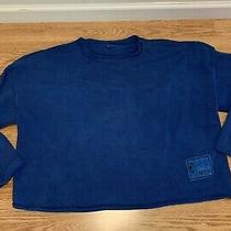 Womens Vintage Guess Jeans Usa Stonewashed Blue Sweater Size L Large Photo