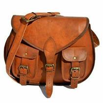 Women's Vintage Leather Messenger Spacious Cross Body Bag Handmade Purse Hobo Photo
