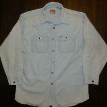 Women's Vintage Long Sleeve Guess Denim Button-Front Shirt Sz Xl Made Hong Kong Photo