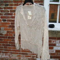 Women's Vintage Pink Soda Blush and Silver Blouse Size Large New Photo