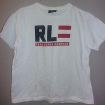 Women's Vintage Ralph Lauren Polo Jeans Co. Spellout Large Logo T-Shirt S Small Photo