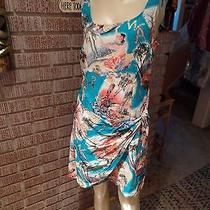Women's Vintage Rampage Silky Rayon Wrap Skirt Hula Girls Tiki Drums Dress M Photo