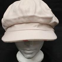 Women's Vtg Burberry Lavender Merino Wool Nova Check Lined Cap Hat Adult Small S Photo