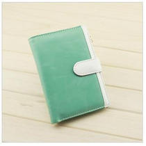 Women's Wallet Purse Bifold Faux Leather Card Holder Bag for Iphone 4 4s Photo