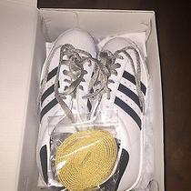 Women's White Adidas Superstar Custom Size 8 Photo