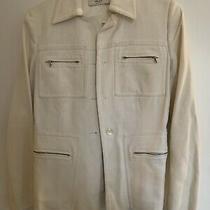 Womens White Prada Jacket Size 42 (Medium) Photo