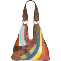 Women's Wilsons Leather Patchwork Leather Four-Poster Hobo Photo