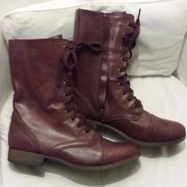 Women's Wine Mossimo Boots Size 11 Photo