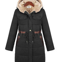 Womens Winter European Warm Thick Long Sleeve Cold-Proof Medium Style Coat Photo