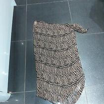 Women's Wrap Cover Up Skirt Swimming Used Animal Print Brown Euro 36 38 Small Photo