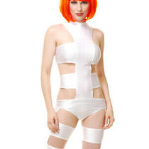 Women's Xl 14-16 Sexy Fifth Element Dimension Leeloo Costume Photo