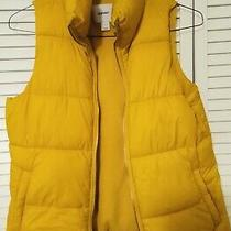 Women's Yellow Gap Puffer Jacket With High Collar (S/m) Very Warm Photo