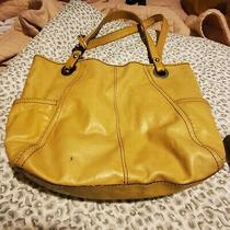 Womens Yellow  Leather Fossil Tote Purse Photo
