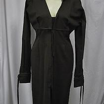 Women's Yves Saint Laurent Brown Long Sleeve Coat Dress Size F44 Us 14 Photo