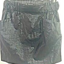 Women's Zara Basic Black 100%  Polyurethane  Skirt Size Xs Photo