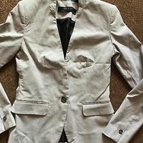 Womens Zara Basic Collection Grey Small Check Jacket. Size 6. (Eur 34). Photo