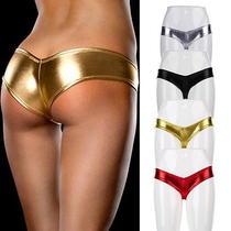 Women Sexy Lingerie Shine Metallic Girls Sexy Panties Underwear Mg Photo
