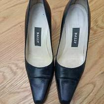 Women-Shoe -Bally Navy Blue High Heels Sz 6 Us 3.5 Eu Photo