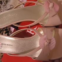 Women Size 8 Anne Klein Sandals Slip on Pump Shoes Nib Blush Pink Nib Photo