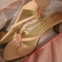 Women Size 8 Anne Klein Sandals Slip on Pump Shoes Nib Blush Pink Nib Photo