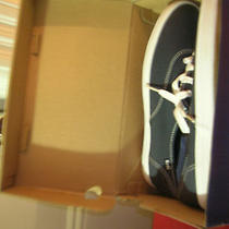 Women Sneakers Navy Canvas Women 9.5m New in Box Photo