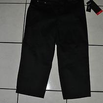 Women Style & Co Capri Black Stretch Work Dress Pants Size 4 Retails 46 Photo