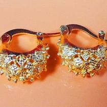 Women Swarovski Earrings Gold Color Indian Chandelier Dangle Jewelry Photo
