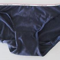 Women Tommy Hilfiger Cotton Bikini Panties Sz Xl Blue Photo