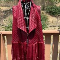Women Travel Elements Garnet Sleevelss Coat Size Xl New 98 Photo