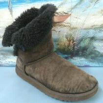Women Ugg Australia Boot Bailey Button 5803 Darkbrown  Size Us 9 Photo