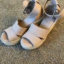 Women Universal Thread Microsuede Ankle Strap Espadrille Wedge Sandals 7.5 Blush Photo