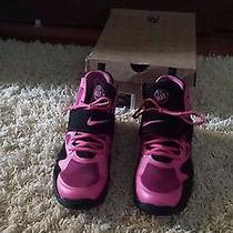 Women Used Pink and Black Nike Air Max Express Size 7 Photo