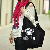 Women Vintage Canvas Hobo Bag Large Tote Messenger Shoulder Purse Zip Handbag Photo