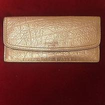 Women Wallet Coach Metalic Gold Photo