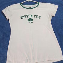 Womens 112th Boston Marathon 2008 Tshirt 26.2 Medium Adidas Used  Free Ship  Photo