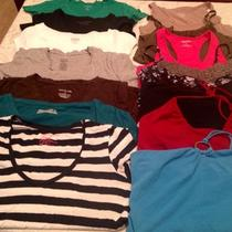 Womens 14 Piece  Medium Summer Clothing Shirt Top Lot Express Banana Republic Photo