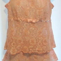 Womens 2 Piece Teddy Camisole Shorts Set Pink Lace Avon Intimates Size Large Photo