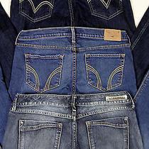 Womens 3 Piece Jeans Lot Hollisterlevi'sexpress Flare Legging Size 6/7  J-3 Photo