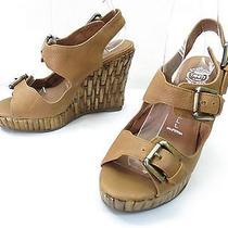 Womens 5 Jeffrey Campbell Help Platform Wedge Sandal Slingback Buckle High Heels Photo