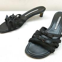 Womens 6.5 Donald J Pliner Slides Black Stretch Sandal Mule Kitten Heel Pumps Photo