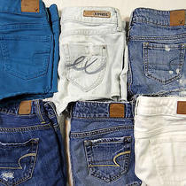 Womens 6 Pairs Shorts Lot American Eagle Express Mixed Color Cut-Off Size 00  C5 Photo