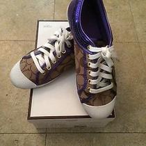 Womens 7.5 Coach Sneakers  Photo
