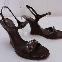 Womens 7 Sigerson Morrison Brown Wedge 4
