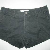 Womens Abercrombie & Fitch a&f Black Mini Shorts Size 00 24 W Excellent Photo
