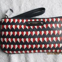 Womens Accessories Nine West Wristy Wallet Red White Blue Hearts 9.75
