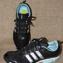 Womens Adidas Fit Foam 3-D Cushion Torsion System Shoes Size 11 - Black/aqua Photo