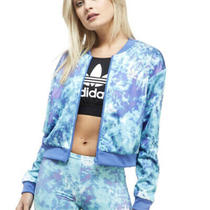 Womens Adidas Originals Ocean Elements Blue and Green Track Jacket  Size 12 Photo