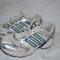 Womens Adidas Running Shoes Size 7 White Aqua Euc Photo