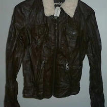 Womens Aeropostale 99 Faux Leather Aviator Jacket Size Xs Nwt 8647 Photo
