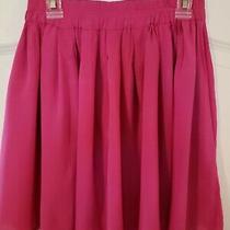 Womens Aeropostale Bethany Mota Solid Skater Skirt Rasberry Pink Euc Size S Photo